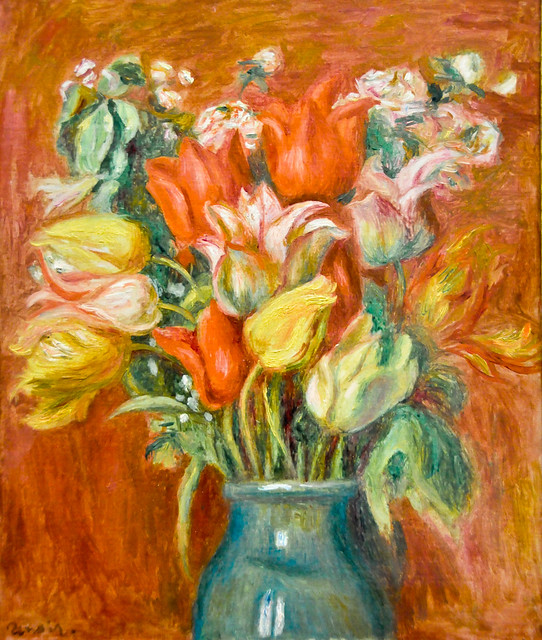 Pierre auguste renoir bouquet de tulipes 1910 at mus e for Auguste renoir paris