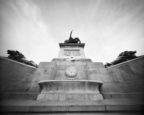Onward and Upward... (4x5 Pinhole Photograph)