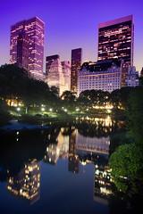 'From The Gapstow Bridge' United States, New York, New York City, Central Park, Central Park Pond, Gapstow Bridge View