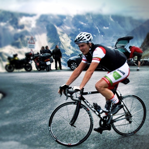 Feelin blasted and cold as shit on top of Col du Galibier. Photo by Karl Schreiber