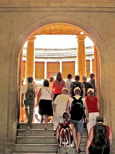 La entrada al palacio