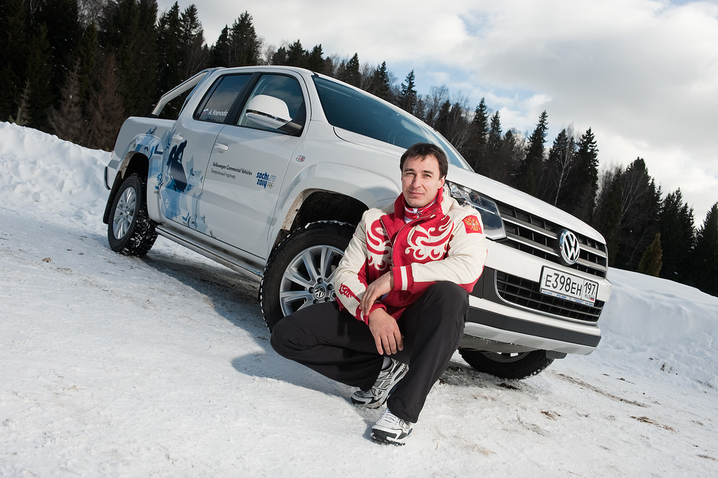 Sochi 2014 Ambassador Alexey Voevoda - Volkswagen Amarok - Photo taken on 23 August 2011