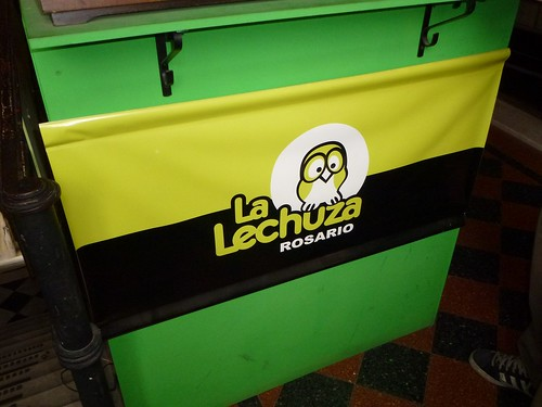 The very nice logo at la lechuza hostel