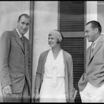 L-R: Bill Tilden / Betty Nuthall / Francis Hunter, Longwood