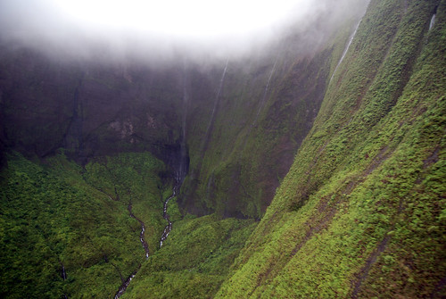 Mount Waialeale, wettest place on earth, via helicopter