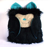 Black blue bat cushion 2