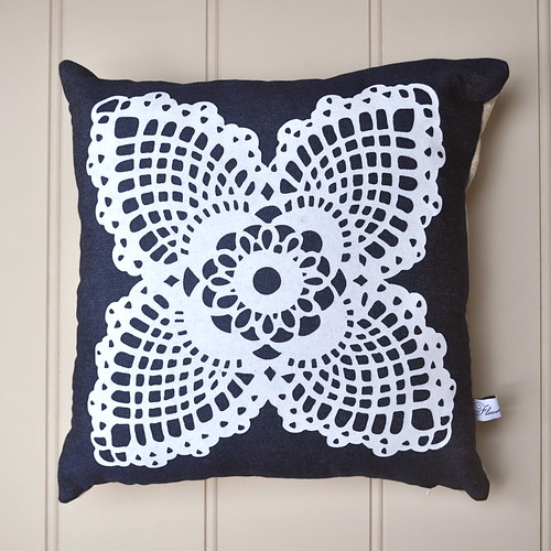 Doily print Cushion cover
