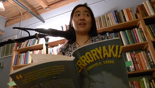 Reading from Terroryaki! at Elliott Bay Books, August 2011