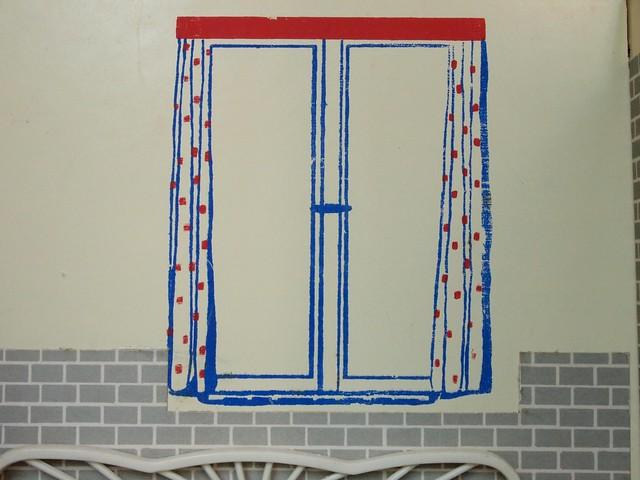 1960 doppelstube mit gemaltem fenster von quelle flickr for Gardinen fa r fenster mit heizung
