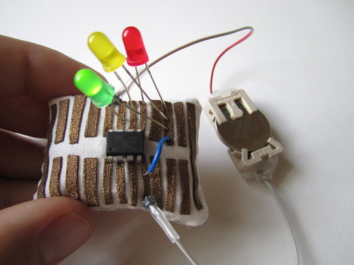 Microcontroller pincushion breadboard
