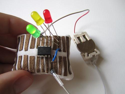 Microcontroller pincushion breadboard