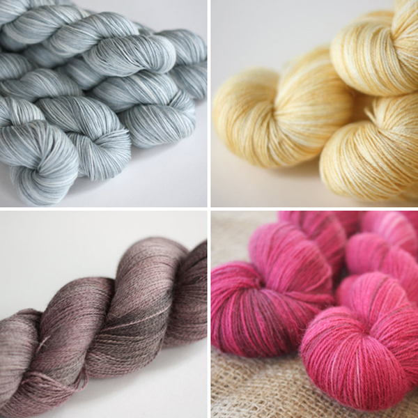 hand dyed yarns from Wild Fire Fibres