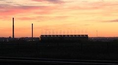 Cooling Towers Sunset at Dow
