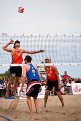 football(0.0), beach handball(0.0), ball over a net games(1.0), volleyball(1.0), sports(1.0), competition event(1.0), team sport(1.0), ball game(1.0), beach volleyball(1.0), tournament(1.0),
