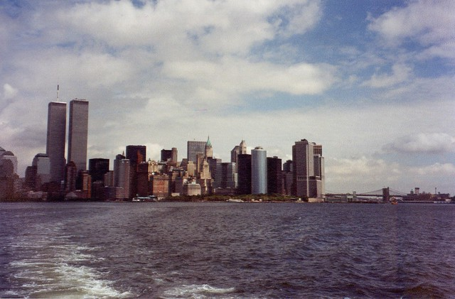WTC from ferry - September 10, 2001
