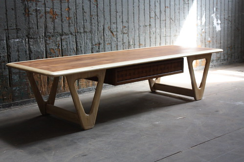 Mint Lane Perception Walnut and Oak Coffee Table