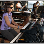 Amy Bowles with the Sam Kininger Band at Gathering of the Vibes