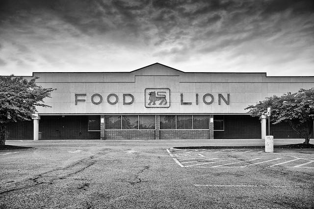 Food Lion (B&W)