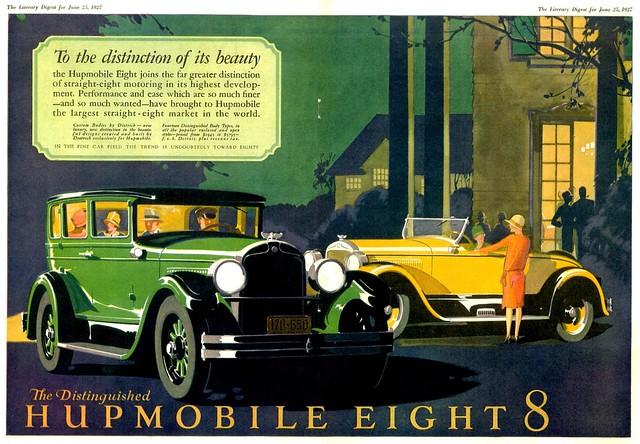 1927 Hupmobile 8 Sedan & Roadster