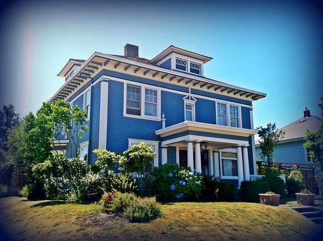 Beautiful Blue Neoclassical House Flickr Photo Sharing