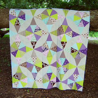 Kaleidoscope Quilt Top Hanging 2