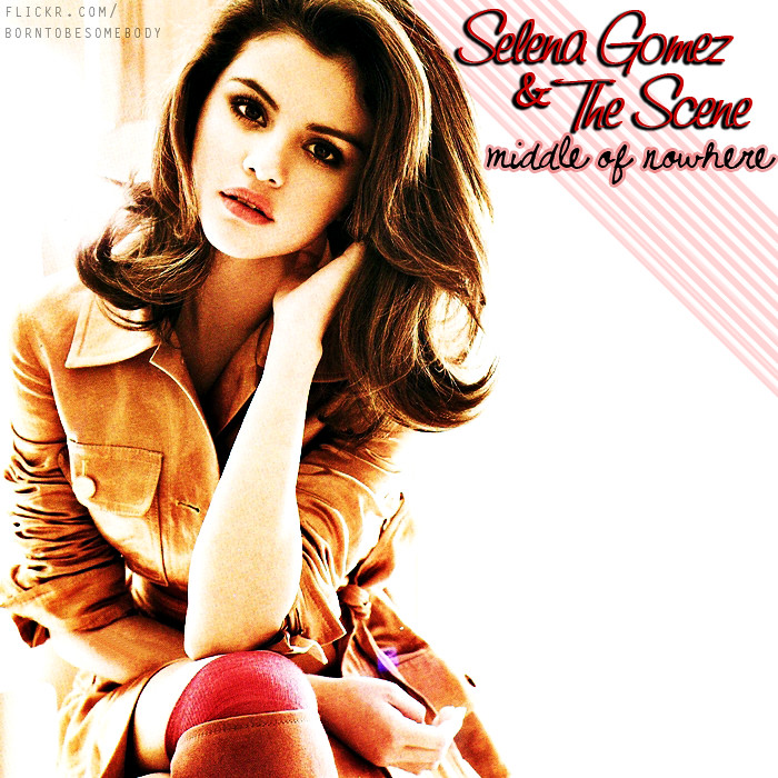 selena gomez middle of nowhere cd cover a photo on