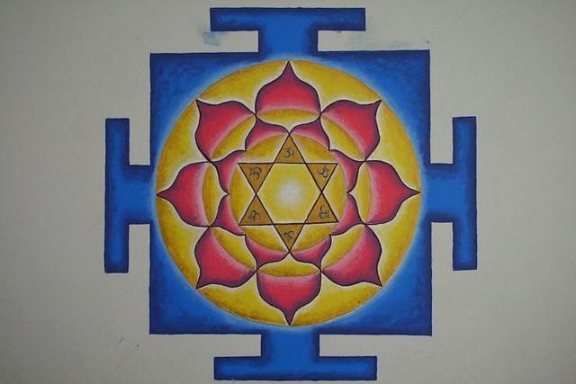 Vishnu Yantra em casa de Mae Mandakini d.d. e Prabhu Hari Kirtan das