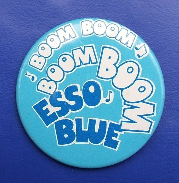 Boom, Boom, Boom, Boom….Esso Blue - promotional button badge (c.1971)
