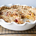 peach creme fraiche pie with a thyme butter crust by sassyradish