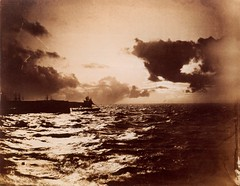 Ship Leaving Port, 1856-7, by Gustave Le Gray