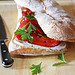 roasted pepper & goat cheese sandwich