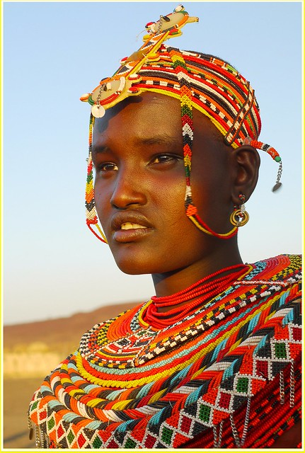 African Tribal Women This is done so that bad omen
