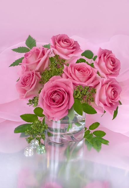 Pink rose wedding centerpiece flickr photo sharing