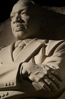Martin Luther King Memorial at Night