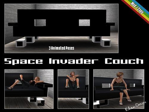 k o khan omizu textures space invader couch. Black Bedroom Furniture Sets. Home Design Ideas