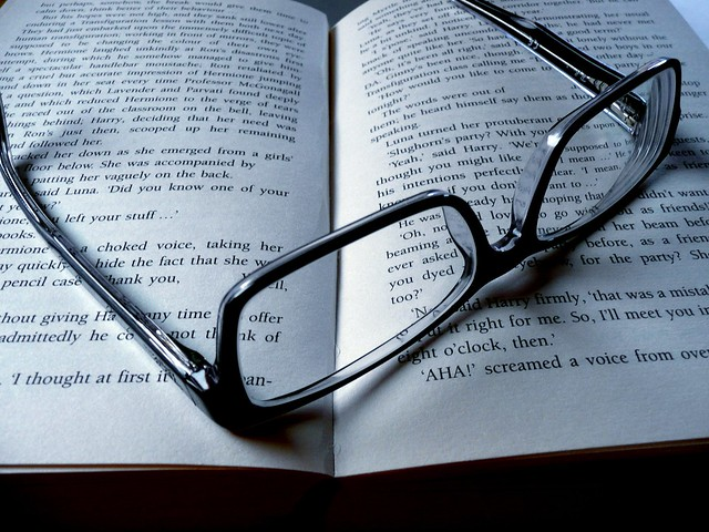 black & white Glasses & Book - exhausting read | Flickr ...