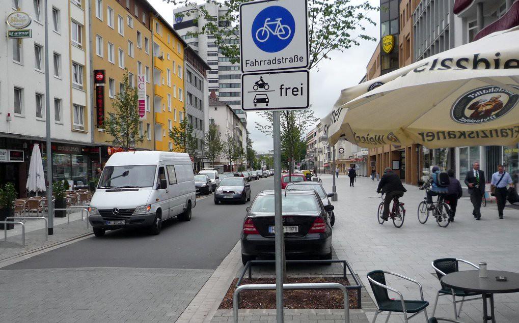 Fahrradstraße Lange Laube