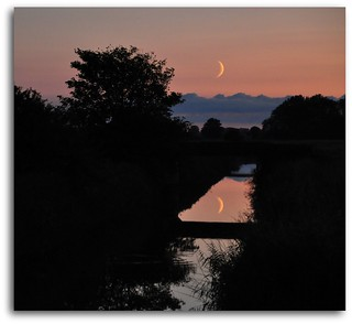Lunar reflection at Sunset