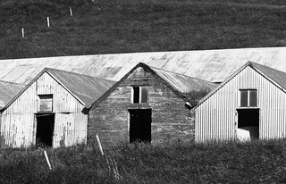 Farm buildings (B&W)