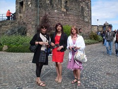 With Vera and Luisa at the castle of Edinburgh