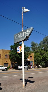Cabins Sign Damaged - Scipio, Utah (Gone 5/21/12)