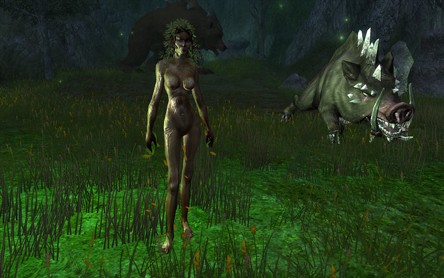 dryad and dire animals 4