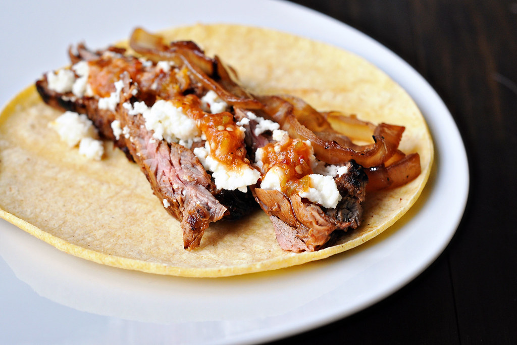 ... steak salad duck tacos with chipotle cherry salsa and goat cheese