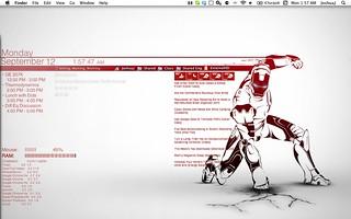 The Monochrome Iron Man Desktop