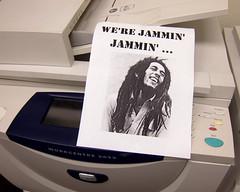 "the Robert Nesta ""Bob"" Marley memorial copy machine"