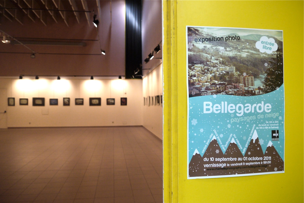 "Chamelle Photography - Solo photo exhibition in France ""Paysages de Neige"""