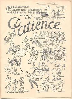 'Patience' Theatre Production, 1927
