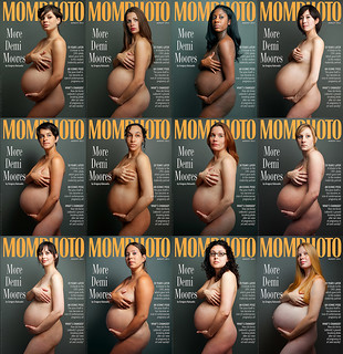Vanity Fair Pregnancy Cover - Demi Moore