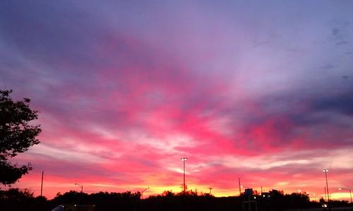 sky clouds sunrise landscape