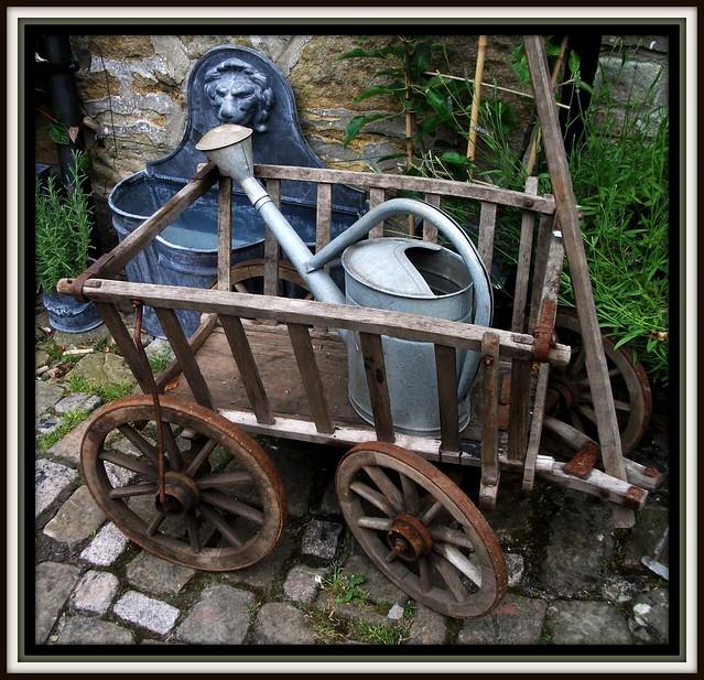 wheelbarrow and watering can !!, Fujifilm FinePix AV110
